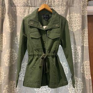 Sanctuary Army Green Cotton Twill 4 Pocket Jacket